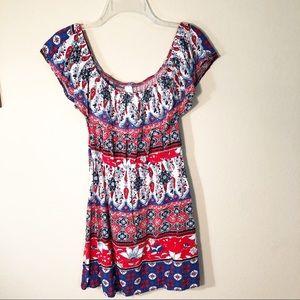 🌿| NB | Off the shoulder ruffle top dress
